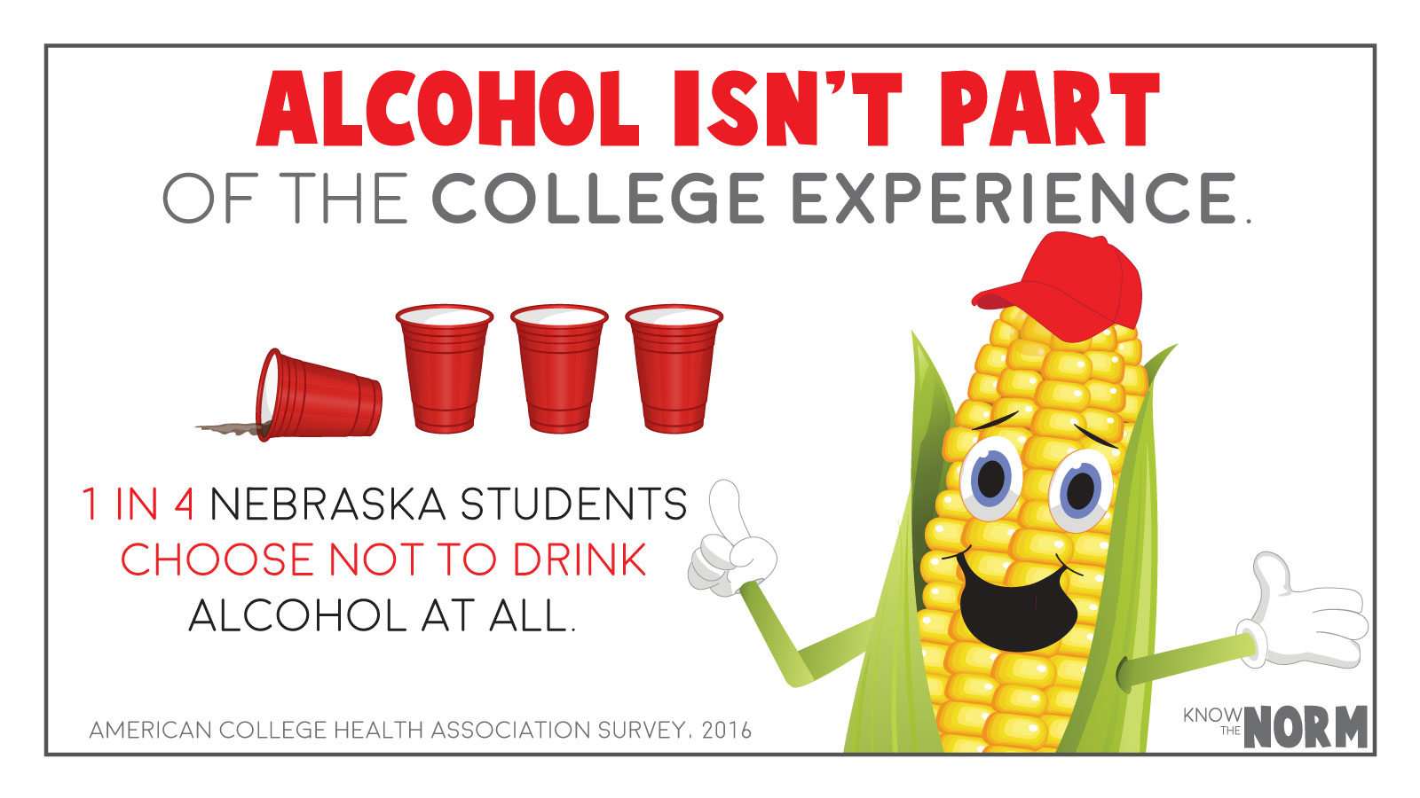 Alcohol isn't part of the college experience