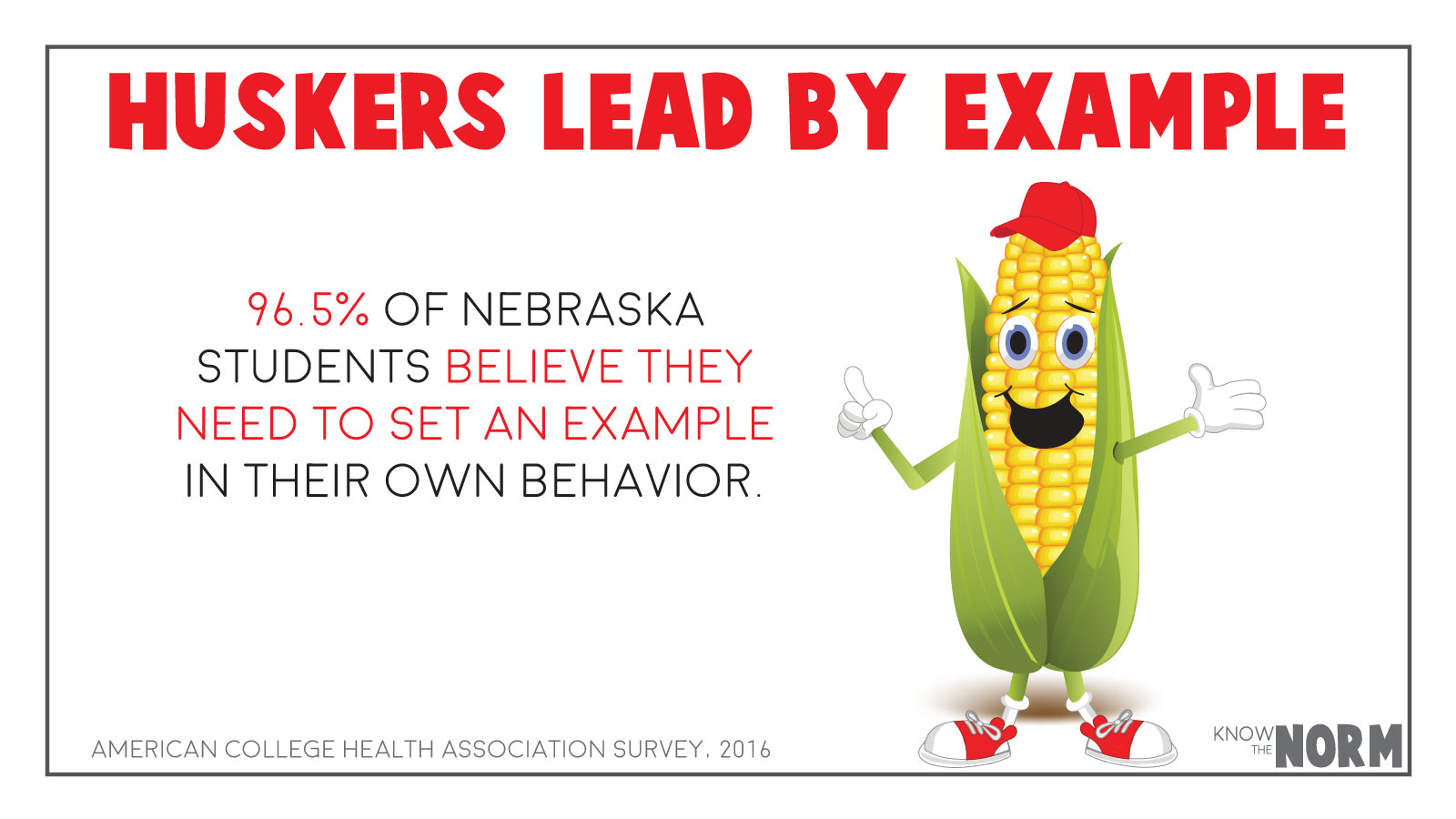 Huskers lead by example