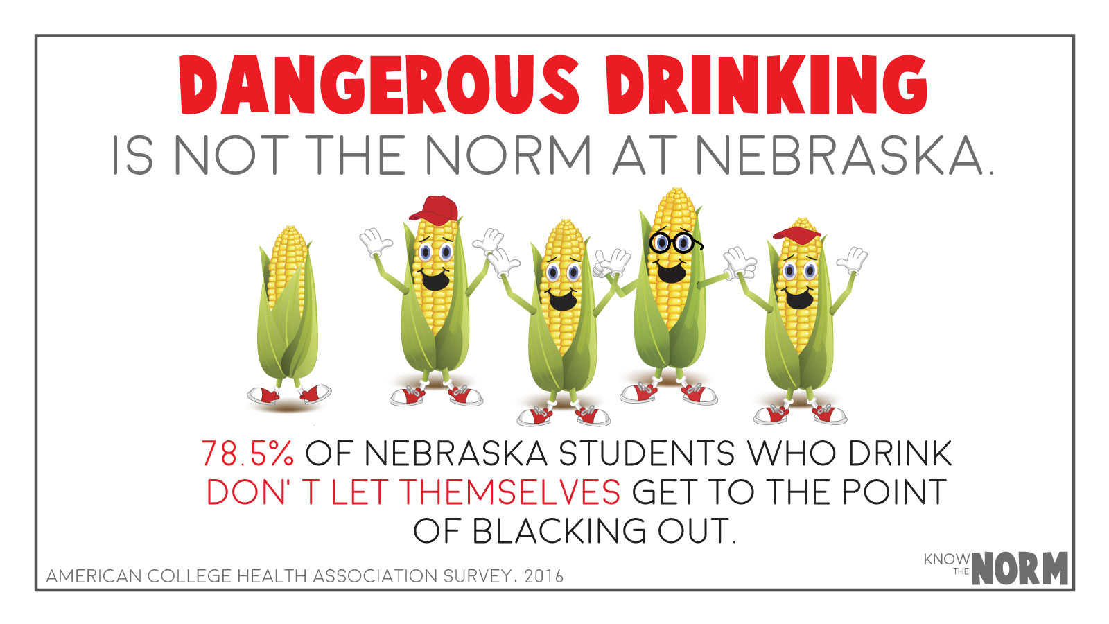 Dangerous drinking is not the norm at Nebraska