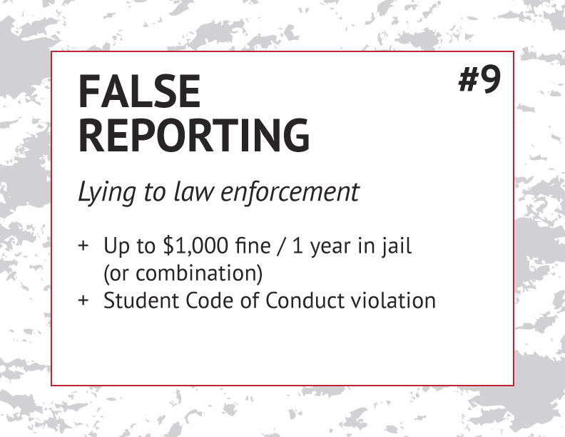 False Reporting