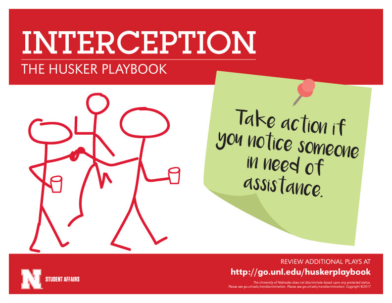 Interception - Take action if you notice someone in need of assistance.