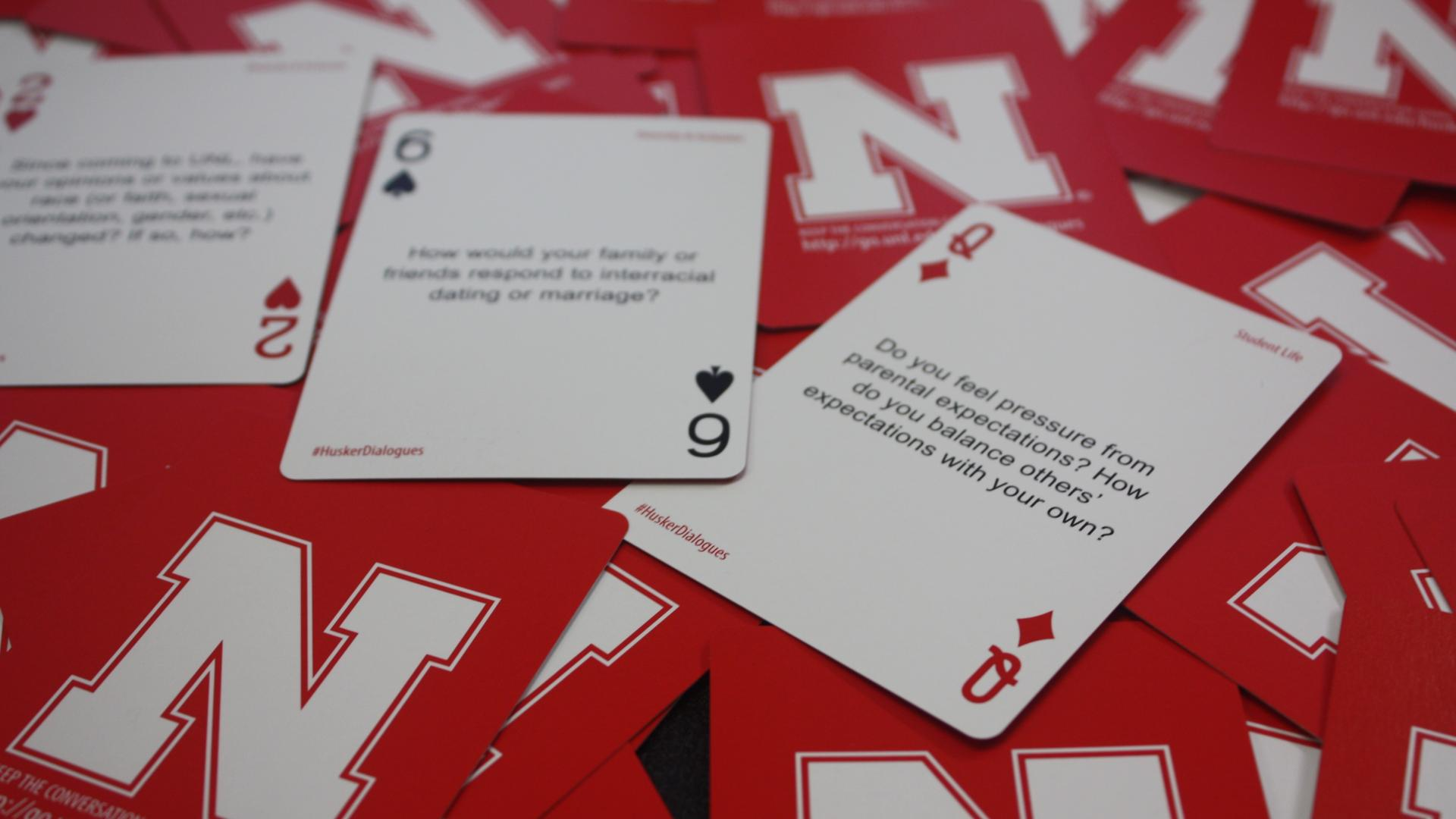 Husker Dialogues Cards to inspire meaningful conversations at University of Nebraska-Lincoln