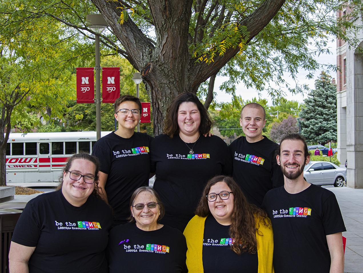 The staff of the LGBTQA+ Center at the University of Nebraska-Lincoln