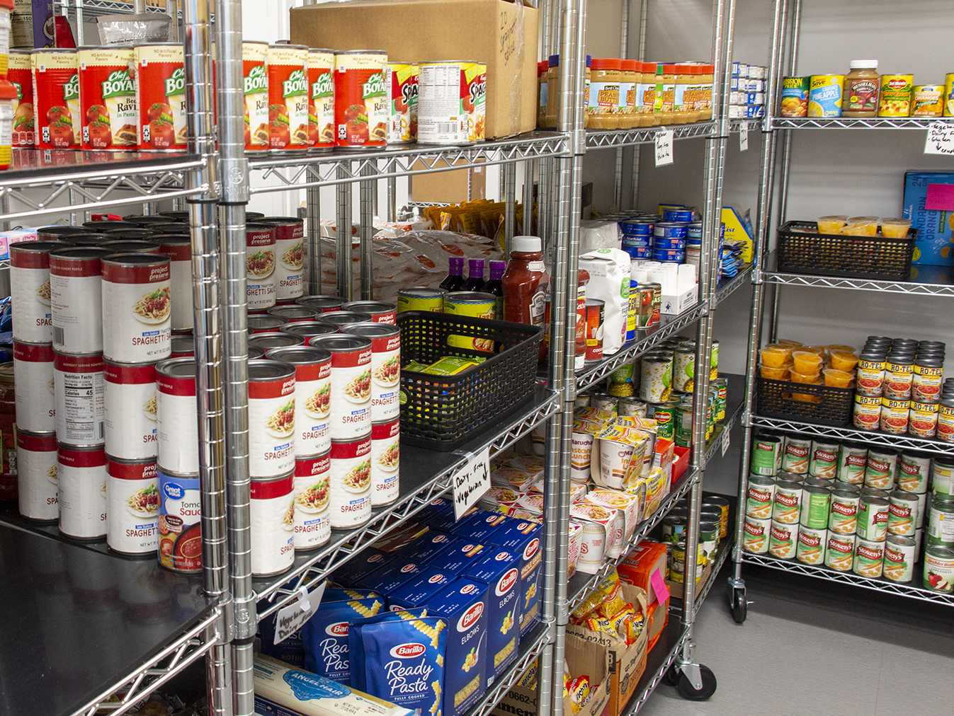 Husker Pantry relies on donations to keep it's shelves stocked and the weekly pick-up bags filled so students do not suffer from hunger. 100% of donations benefit UNL students.