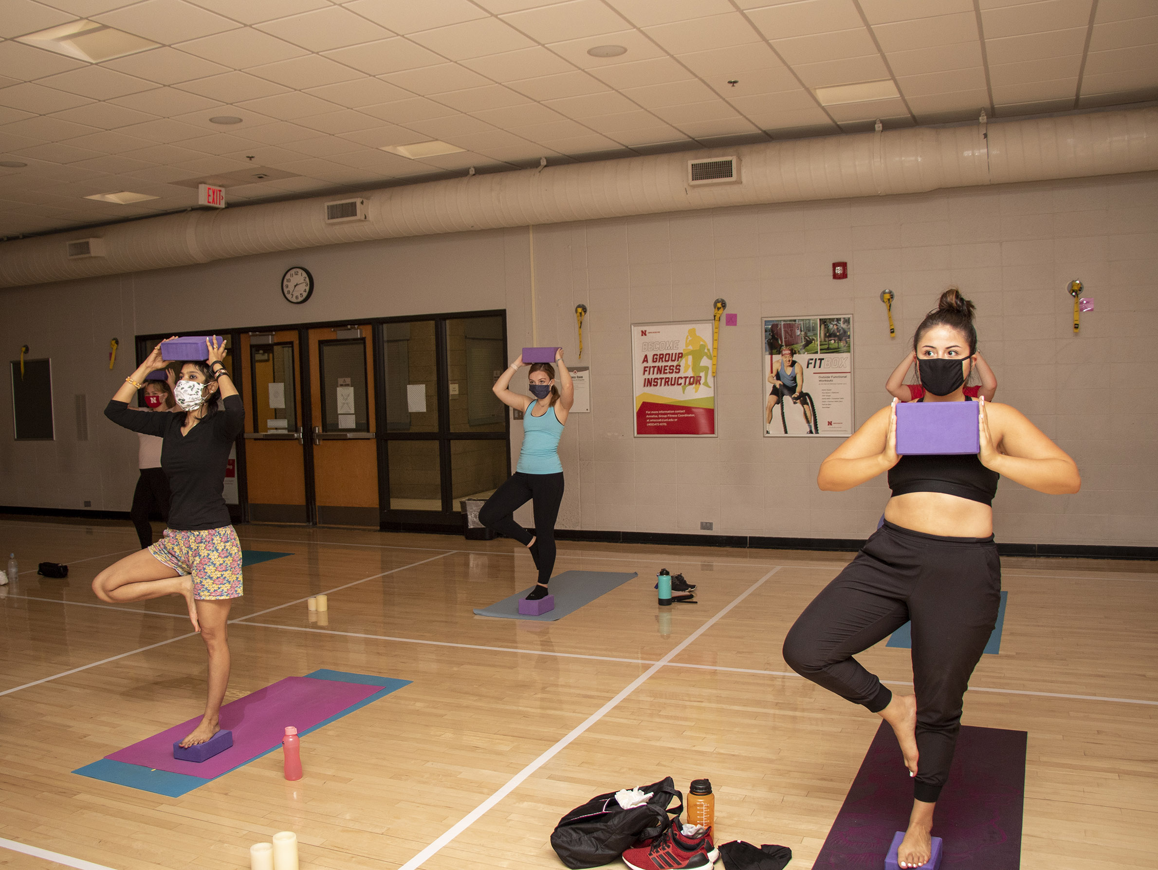 Yoga classes are offered at the Campus Rec Center and Rec & Wellness Center.