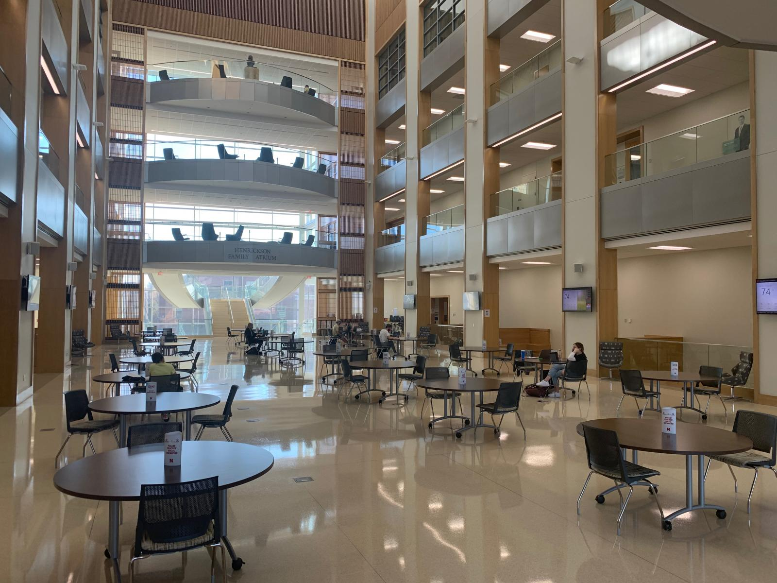 Great hall in the Howard Hawkes College of Business.