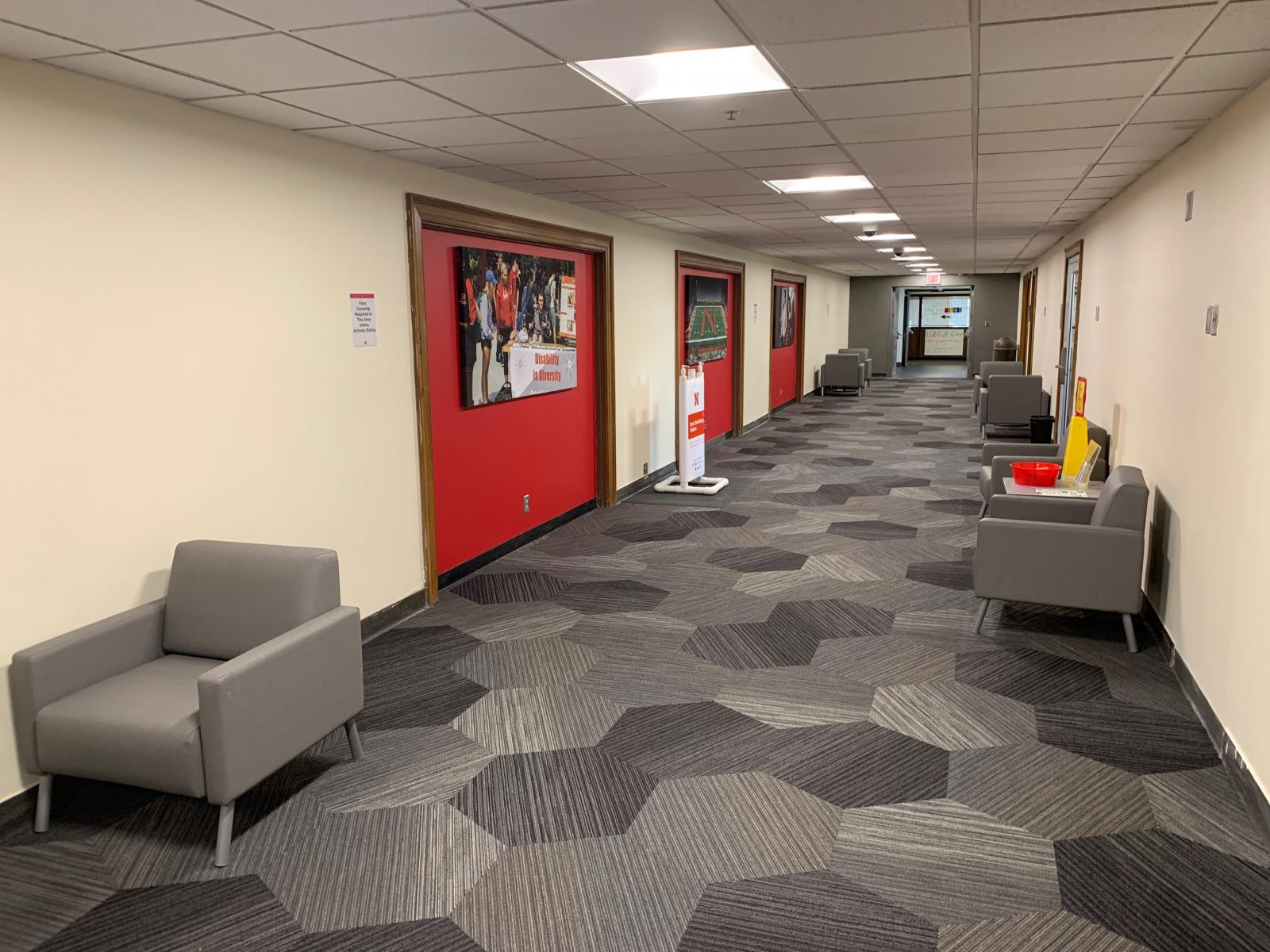 study spaces on the 3rd level of Nebraska Union.