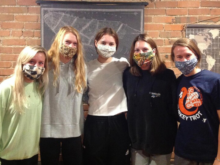 Students participate in an escape room
