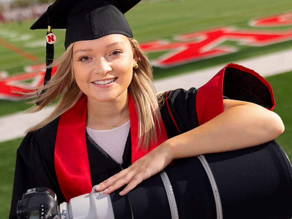 Maddie Washburn, a senior in the College of Journalism and Mass Communications,
