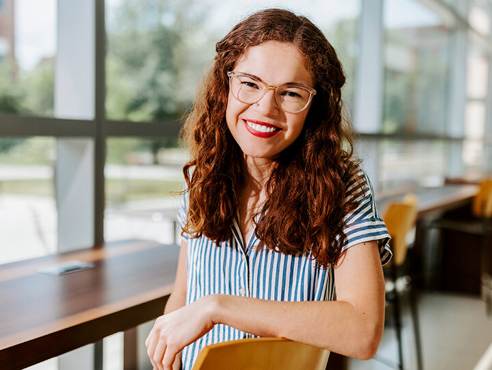 Taylor Jarvis is an accounting major from Lincoln. She is a student government leader, serving as the internal vice president for the Association of Students of the University of Nebraska. [Craig Chandler | University Communication]