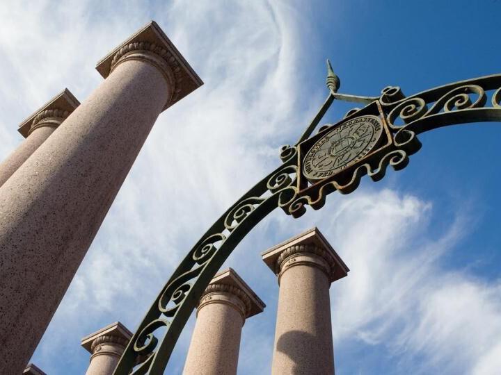 University of Nebraska-Lincoln gate and columns
