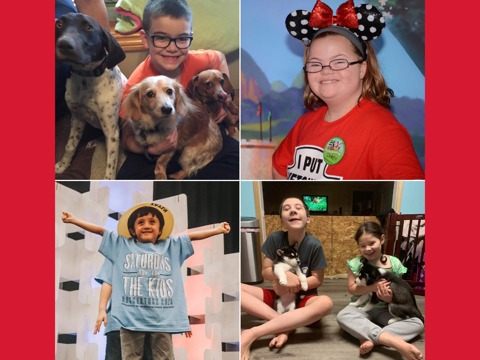 Dancing #FTK at the Univeristy of Nebraska–Lincoln Huskerthon has benefitted children like Kaden, Anna, Zayln, Bradyn & Chloe.