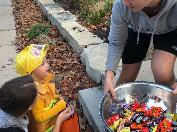 Members of the fraternity and sorority community at the University of Nebraska-Lincoln annually host a trick or treat event for children.
