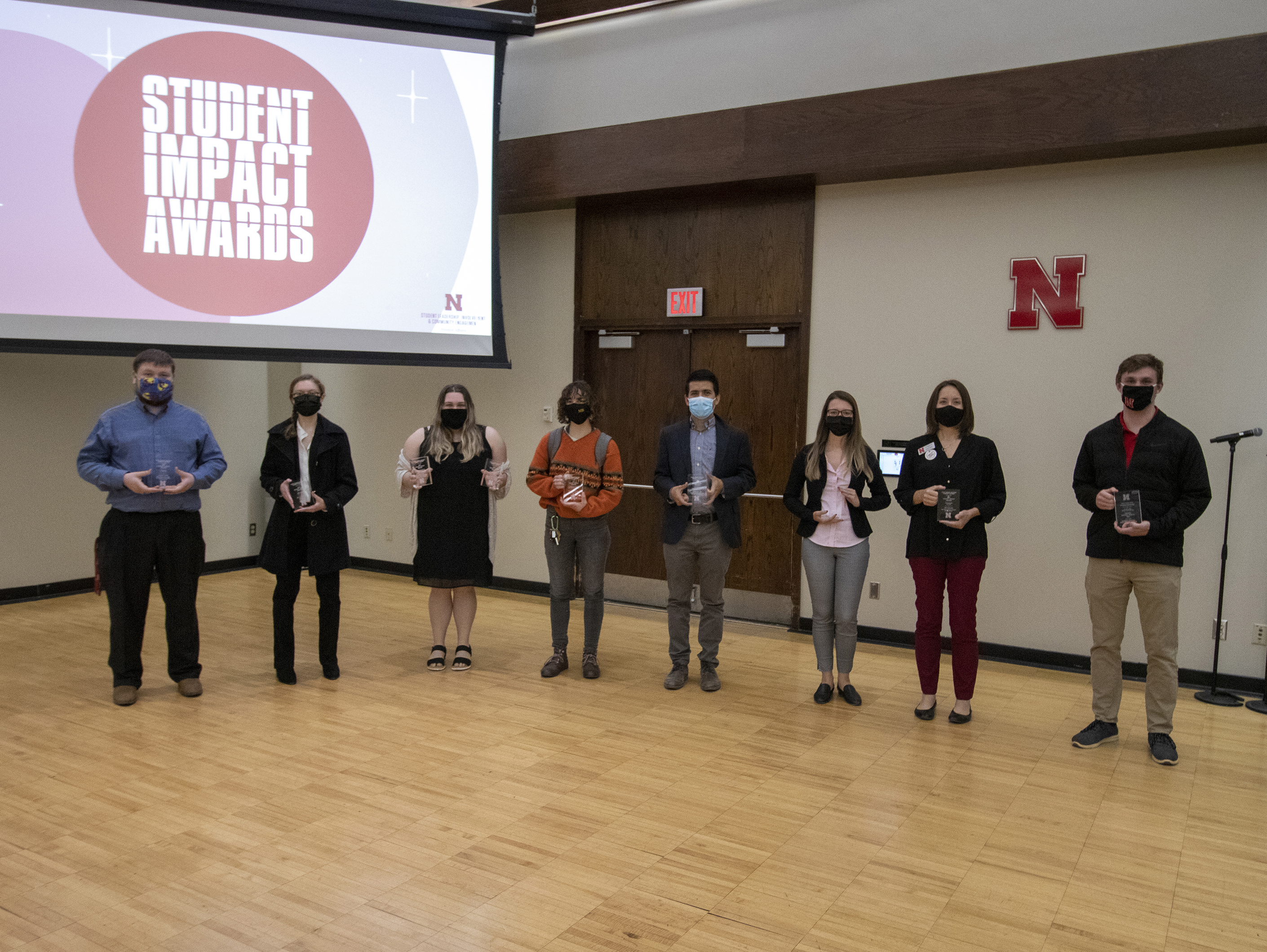 Winners of the Student Impact Awards were announced April 15, 2021 at the University of Nebraska-Lincoln [ Mike Jackson | Student Affairs ]