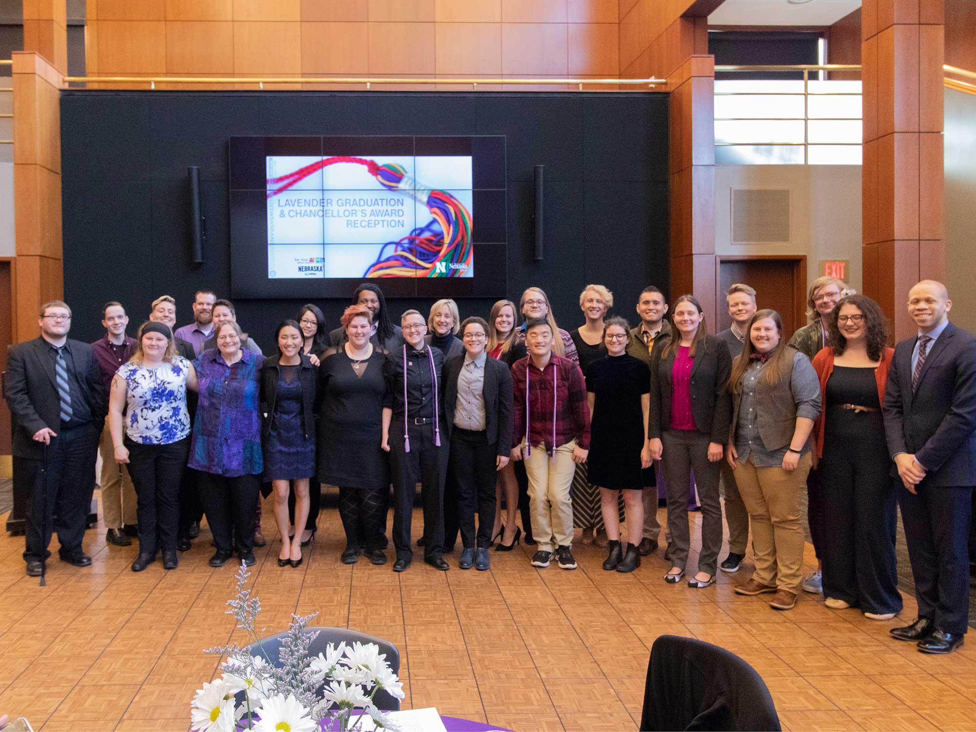 Participants in the 2018 Lavender Graduation