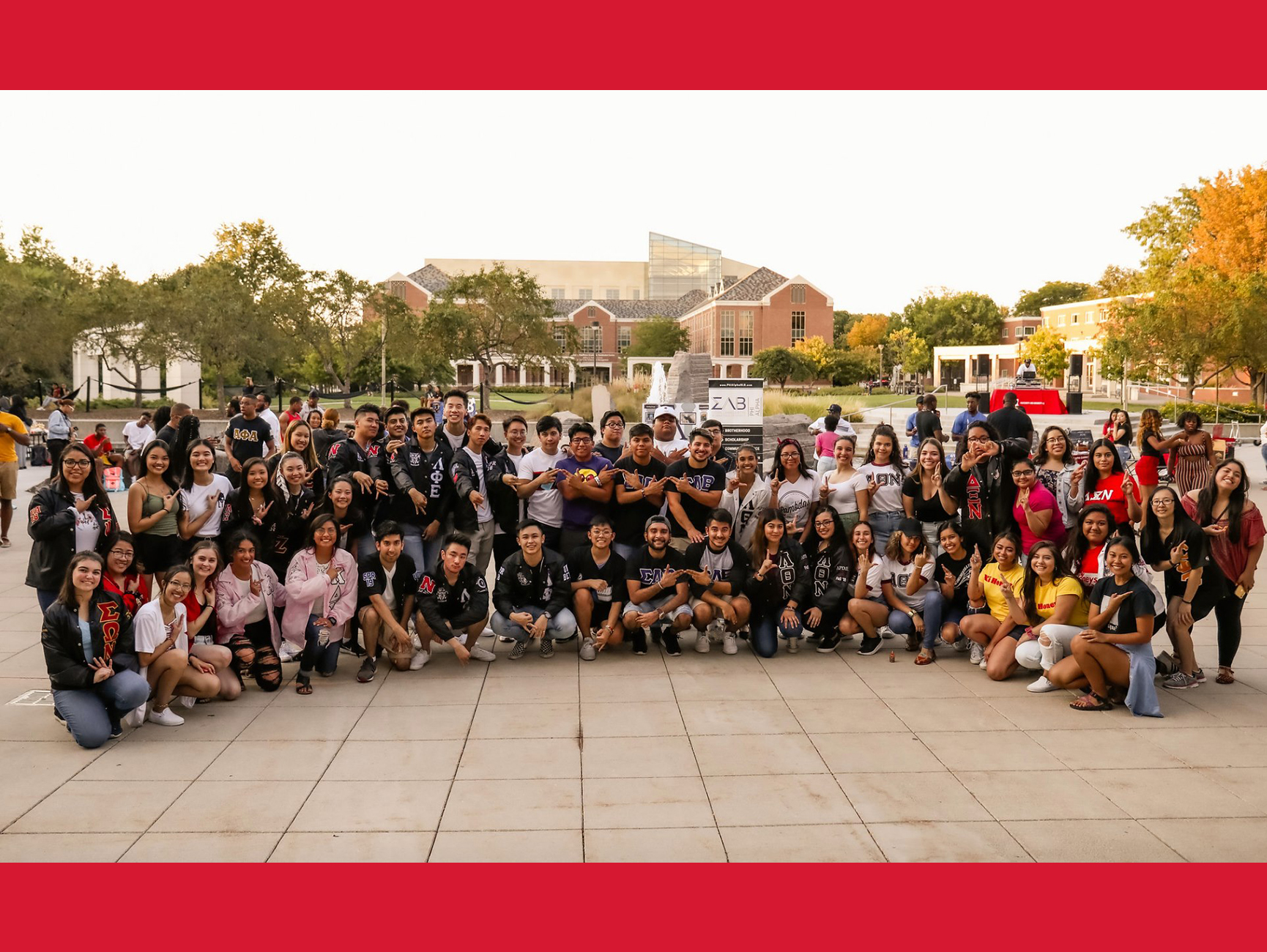 Numerous organizations comprise the Multicultural Greek Council at the University of Nebraska-Lincoln. [courtesy image. photo taken prior to COVID-19 pandemic]