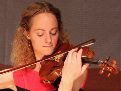 Christina Doku will play violin during the Classical Evening at Maxwell Arboretum on July 15.