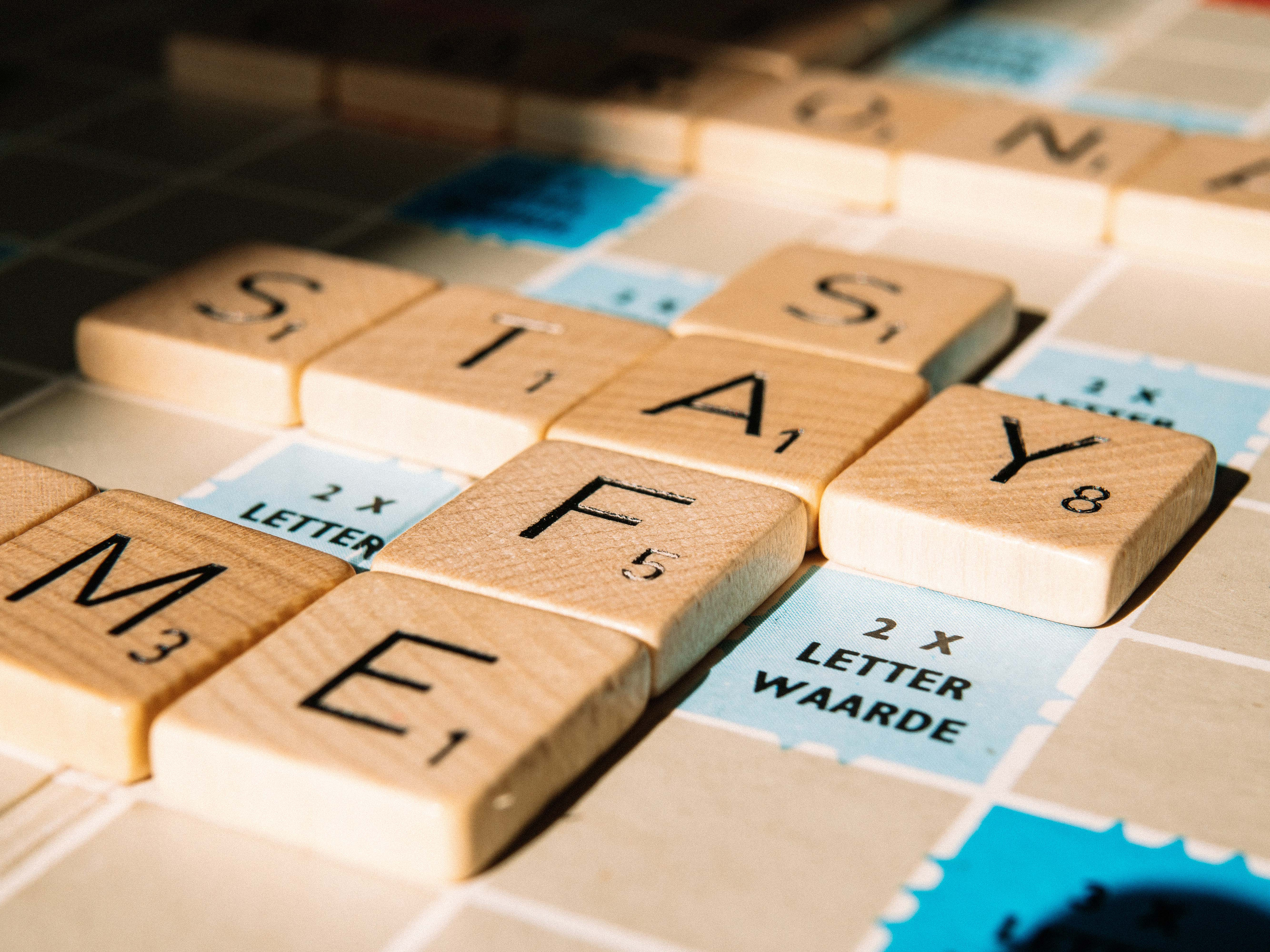 """Scrabble letters """"Stay Safe"""""""