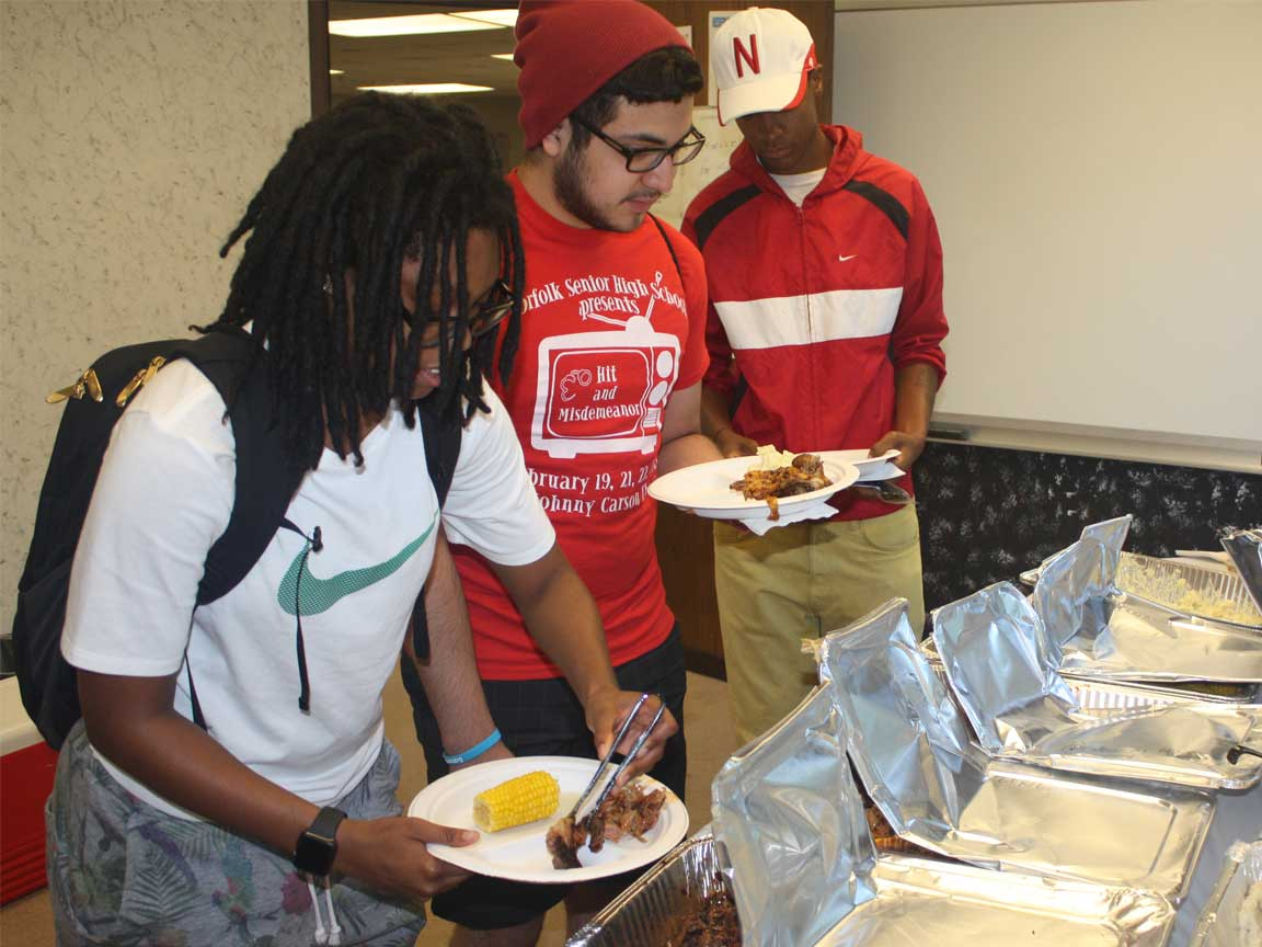 Students attend TRIO welcome back BBQ event