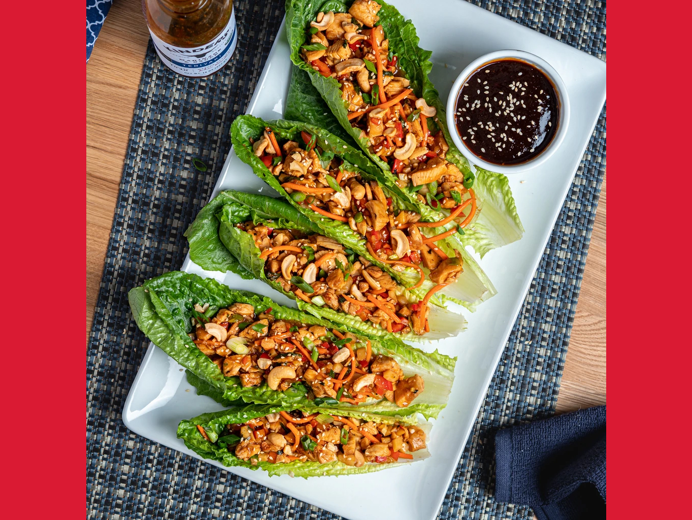 Teriyaki Chicken Lettuce Wraps with Rice is a menu option for the Meal Kits available on August 16.