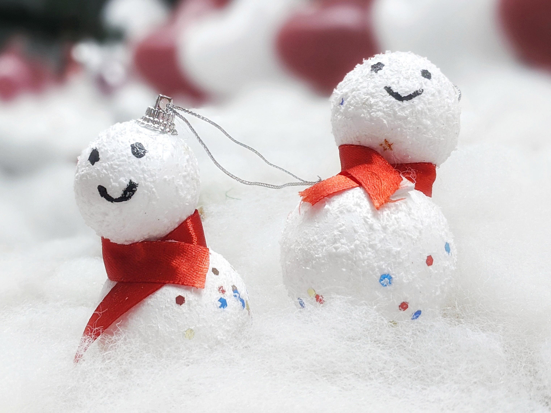 Homemade snowman decorations | photo credit: Vishnu Prasad unsplash.com