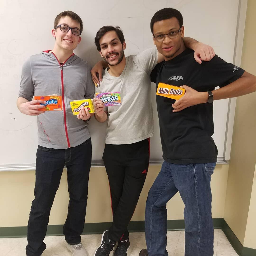 Austin, Ernesto, Julian, and Dan from AIChE at Nebraska