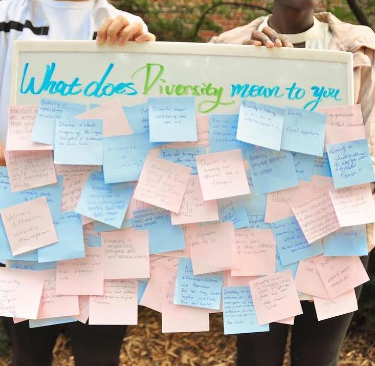 Post its show what diversity means to Nebraska students