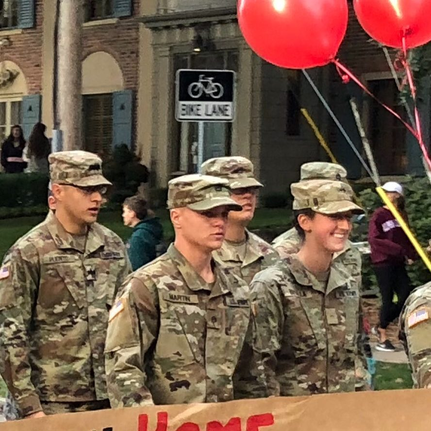 ROTC participating in Homecoming Parade 2018