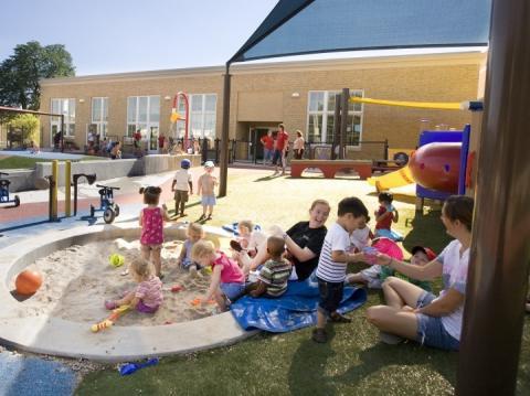 Children play at the UNL Children's Center.