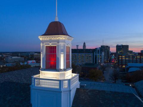 Love Library cupola at the University of Nebraska-Lincoln
