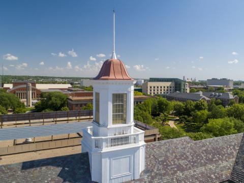 Birds-eye view over campus.