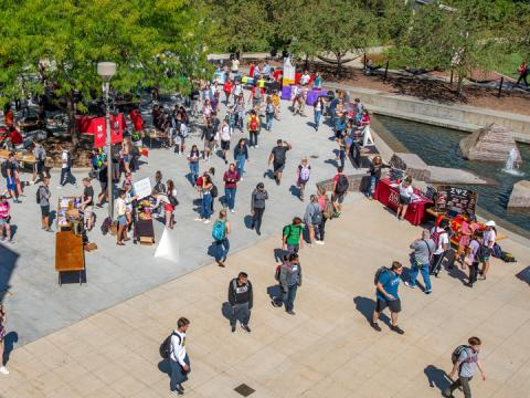 Student organizations host the RSO Club Fair Aug. 28, 2019. Outstanding contributions by RSOs will be recognized through the Student Impact Awards.