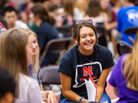 Students talk during the Husker Dialogues at the start of the fall semester. A new student-led project starting Nov. 10 aims to increase civil discourse on campus.