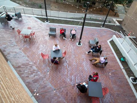 The recently-opened outdoor patio was a new addtion to the Nebraska East Union during it's recent major renovation.