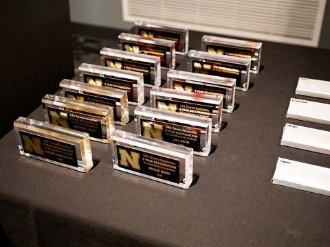Parent Recognition Awards plaques