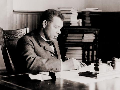 The True Black History Museum includes original documents from historic figures such as Booker T. Washington (pictured), Mary McLeod Bethune and Barack Obama.