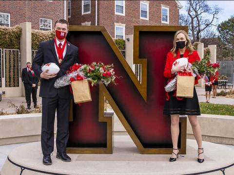 Seniors Cooper Grabenstein of Smithfield and Lauren Kubat of Omaha have been crowned homecoming royalty at the University of Nebraska–Lincoln.