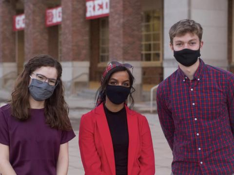 Taylor Jarvis, Batool Ibrahim and Patrick Baker (left to right) are ready to take on the 2021-22 term. [photo by Adeline Burger | Daily Nebraskan]