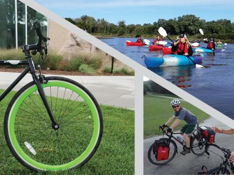 Bikes, kayaks, tents, and other items will be sold during the Outdoor Adventures Center's Used Gear Sale on April 2, 2021 at the University of Nebraska-Lincoln.