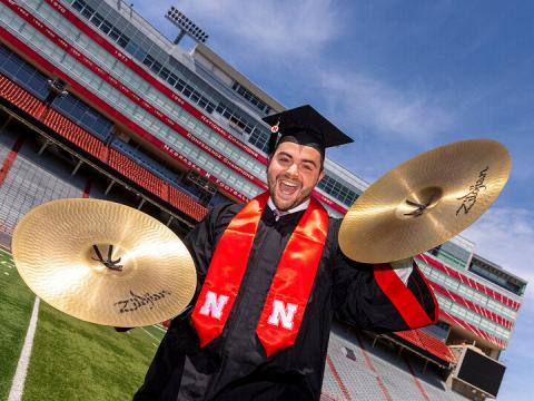 Nebraska's Luke Bogus, a member of the Raikes School