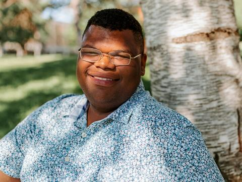 Nebraska's Jayven Brandt hopes to carry success he's realized on campus into his future work as an educator. [Craig Chandler | University Communication]