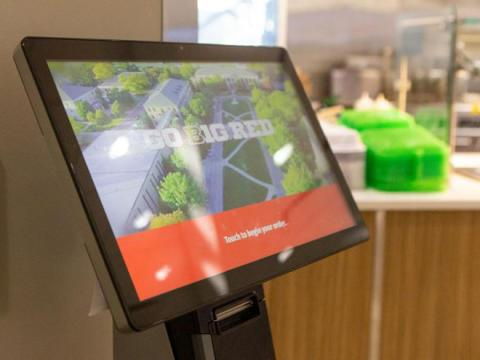The ordering kiosk inside of the East Campus Dining Center is pictured on Monday, Nov. 25, 2019, in Lincoln, Nebraska. | Daily Nebraskan