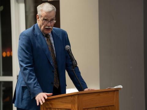 John Lenich speaks during open forum in an ASUN meeting in the Nebraska Union on Wednesday, Jan. 29, 2020, in Lincoln, Nebraska.