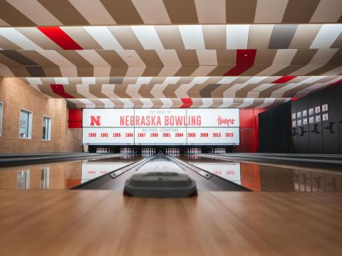 The newly renovated UNL Bowling Center located inside the Nebraska East Union in Lincoln, Nebraska.