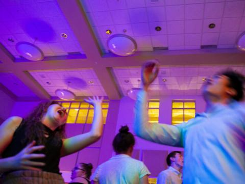 Students dance during the university's first Rainbow Ball, which was held in 2019. [Troy Fedderson   University Communication ]