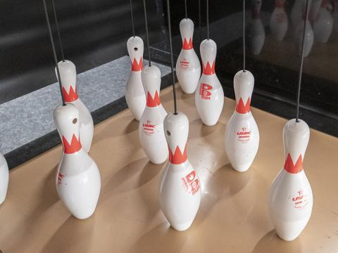Husker Bowling Center is located on the ground level of the Nebraska East Union.