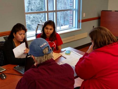 Students assist with 2015 income taxes through the Volunteer Income Tax Assistance program