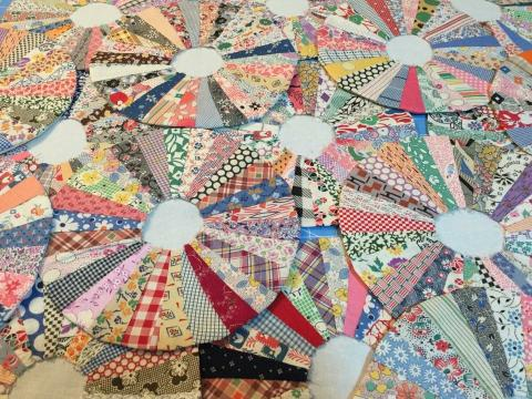 Quilt pieces for Grandma Dresden's quilt