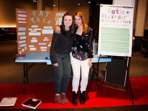 Students educate peers during Eating Disorders Awareness Week