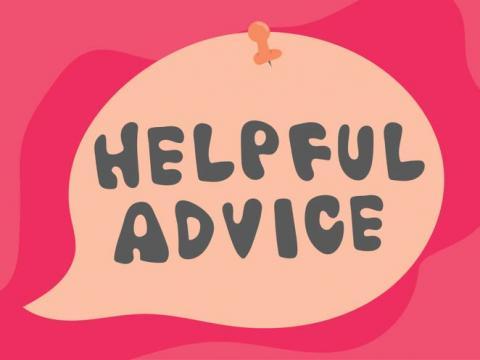 Helpful advice text
